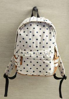 Theresa Polka Dot Backpack | Modern Vintage Purses | Modern Vintage Accessories