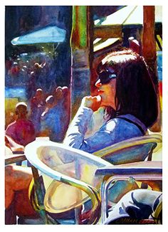 "Time to think by Graham Berry Watercolor ~ 19"" x 14"""
