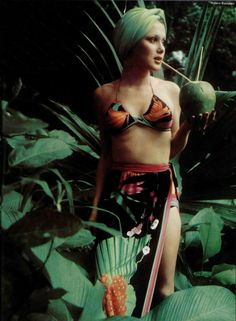 Beautiful photoshoot from 1974 in L'Officiel magazine. Shop our beachwear collection at matthewwilliamson.com