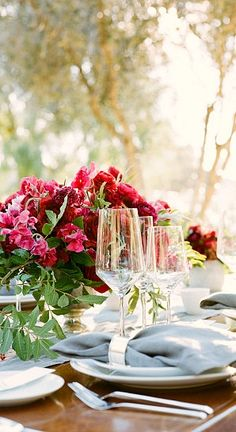 table setting...