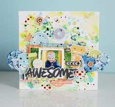 "Skrapowisko: Blejtram ""Awesome"" / Canvas ""Awesome"""