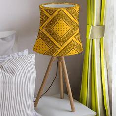 Tripod Lamp, Lamp Shades, Snug Fit, Bandana, Black Gold, Personality, Cotton Fabric, Room Decor, Tools