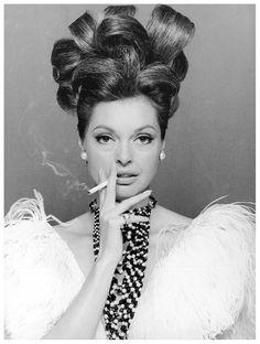 Actress Nadja Tiller, published in Constanze Mode, September 1966 Photo Rico Puhlmann