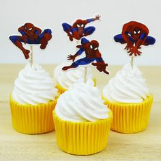 24 pcs/lot Spider Man Party cupcake toppers picks //Price: $3.64 & FREE Shipping //     #hashtag2