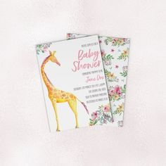 Printable Baby Shower Invite - Invitation - Giraffe Baby Shower Printables, Baby Shower Invitations, Invitation Wording, Invite, Color Profile, Babies R Us, Text Color, Etsy Store, Your Design