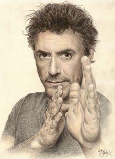 Robert Downey jr by Susie-K (color pencil drawing)