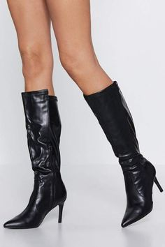 4c3f073cc Nasty Gal Purr for Me Calf Boot Bootie Boots