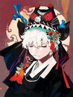 Hanbok illustration  | 한복 Hanbok : Korean traditional clothes[dress] - RocoA — 호건[ 虎巾 ]