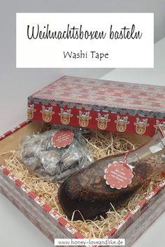 Washi Tape Weihnachtsboxen basteln, befüllen und verschenken  #Weihnachtsboxen #Weihnachten #washitape Washi Tape Diy, Diy Weihnachten, Decorative Boxes, Repurposing, German, Inspiration, Desserts, Diys, Custom Holiday Cards