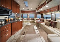 Inside of camper. We really want a 5th wheel camper & a really nice one