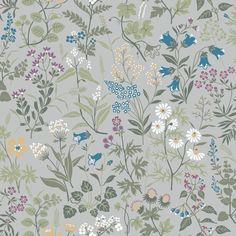 Flora by Boråstapeter - White - Wallpaper : Wallpaper Direct