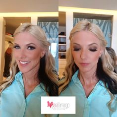 Soft brown smokey eyes, waves hairstyle for bridesmaids