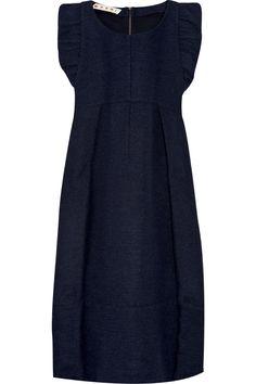 Marni ruffle-trimmed boucle dress.