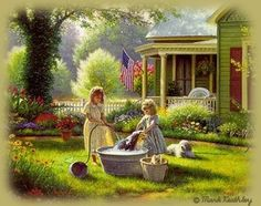 Herald A New Day - Sapphire Designs - Spring Cleaning© - Art by Mark Keathley