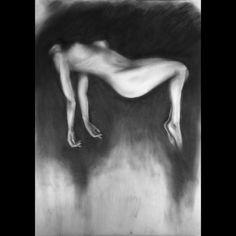 "Saatchi Online Artist: Jea Devoe; Charcoal, 2010, Drawing ""Electra Abyent"""