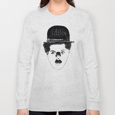 #charliechaplin #charlot #chaplin #art #illustration #graphic #drawing #designer #bw #blackwhite #longsleeve