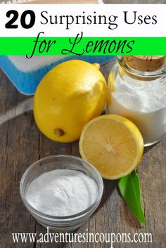 Lemons aren't just for cooking anymore! These 20 surprising uses for lemons will have you cooking, cleaning, using them in your beauty routine and even gardening with them!