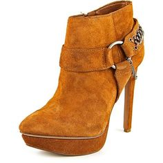 Jessica Simpson Jessica Simpson Vinata Women Leather Tan Ankle Boot