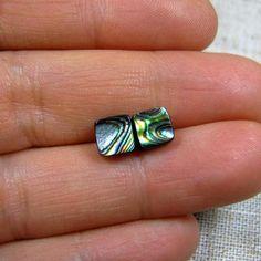 Abalone Stud Earrings Sterling Silver Square Stud Earrings