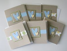 Mini Note Card Set -  All Occasion Set of 6. $9.00, via Etsy.