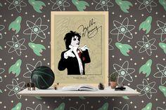 Freddie Mercury - Illustration by MSaHomeDesign on Etsy