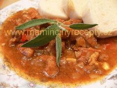 Prezidentský guláš Thai Red Curry, Ethnic Recipes, Food, Goulash, Red Peppers, Cooking, Essen, Meals, Yemek