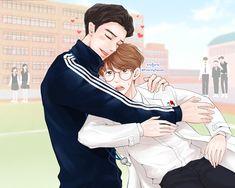 Chanbaek Fanart, Baekhyun Fanart, Exo Chanbaek, Baekhyun Chanyeol, Exo Couple, Exo Fan Art, Anime Couples Drawings, Cute Gay Couples, Kpop