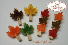 DIY Leaf Clothespin Magnets - good Fall craft idea to do with your kids!
