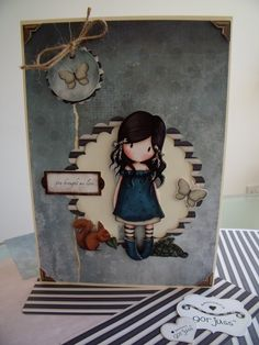 Decoupage card - Gorjuss
