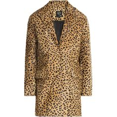 McQ Alexander McQueen Leopard Print Calfskin Jacket (2 115 PLN) ❤ liked on Polyvore featuring outerwear, jackets, coats & jackets, coats, animal print, leopard print jacket, calfskin leather jacket, animal print jacket, slim fit jackets and polka dot jacket