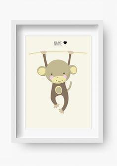 """Bilder - Kinder Poster """"Jungle Joe"""" (Kinderzimmer Bild) - ein Designerstück von fabeltal bei DaWanda"""