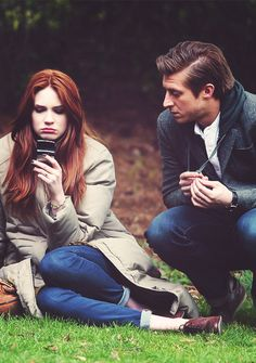 Amy and Rory. Such a great shot! #doctorwho #whovians