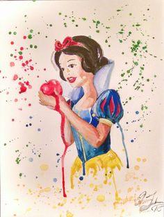 Disney's Snow White, Watercolour March 28, 2015 Www.etsy.com/shop/designandartwork