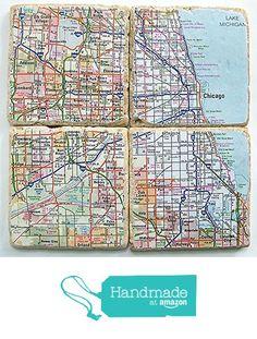 Chicago Map Coasters from Carolina Cottage Coasters http://www.amazon.com/dp/B015Y84A44/ref=hnd_sw_r_pi_dp_VBMfwb0QA8EDQ #handmadeatamazon