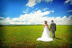 Photo de mariage, la mariée en robe blanche vers Saint-étienne, dans ...
