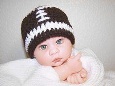 Football head crochet baby hat by PinkyRoo on Etsy, $15.00