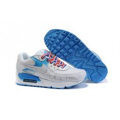 wholesale dealer 9df26 c0312 White Nike Air Max 90 Womens Shoes Wholesale Blue