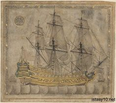 Calligraphic Galleon by 'Abd al-Qadir Hisari, Islamic Art Medium: Ink and gold on paper Louis E. and Theresa S. Seley Purchase Fund for Islamic Art and Rogers Fund, 2003 Metropolitan Museum of Art,. Islamic World, Islamic Art, Vive Le Vent, Les Religions, Eastern Accents, Old Paintings, Islamic Calligraphy, Illuminated Manuscript, Metropolitan Museum