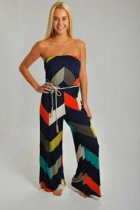 Patchwork Jumpsuit - Boutique Clothing | JC's Boutique