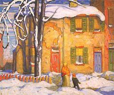 Old House, Toronto Winter ~ Lawren Stewart Harris, CC was a Canadian painter, and is best known as a member the Group of Seven who pioneered a distinctly Canadian painting style in the early twentieth century Group Of Seven Artists, Group Of Seven Paintings, Tom Thomson, Emily Carr, Canadian Painters, Canadian Artists, Art Gallery Of Ontario, Winter Painting, Art Moderne