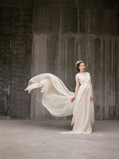 This dress is made of chiffon and has a stunning bodice.