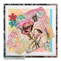Crafty Individuals CI-210 - 'Pretty Poppy' Art Rubber Stamp, 60mm x 85mm - Crafty Individuals from Crafty Individuals UK