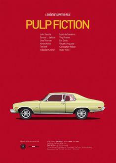 7 iconic movie vehicles in print | Illustration | Creative Bloq