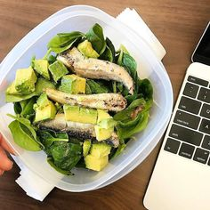 """""""For a nutritious and omega-3 packed lunch, add Wild Planet Sardines to your salad. Thanks @that.paleo.girl for bringing us with you to work! """""""
