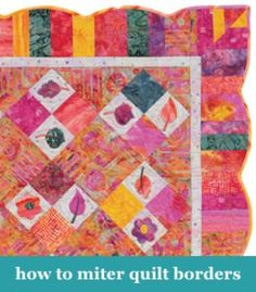 for years i was afraid of mitered corners. who knows why. but i ... : mitered quilt borders easy - Adamdwight.com