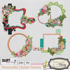 Personality Cluster Frames by Scraps by Missy