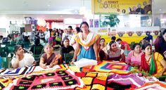 Mother India Crochet Queens aiming to beat Guinness World Record largest crochet blanket worldwide with an inspiring online campaign. #craftivism