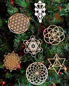 """Holiday ornaments are now available in our Etsy shop! This set of seven 4""""…"""