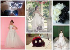 wedding: rock inspiration One Shoulder Wedding Dress, Wedding Inspiration, Bride, Wedding Dresses, Fashion, Wedding Bride, Bride Dresses, Moda, Bridal