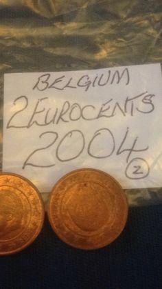 Belgian Two Euro Cent 2c Coins Belgium European
